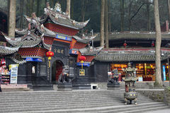 Jianfu palace in Qingcheng mountain Stock Photos