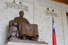 Jiang Jieshi placerade statyn Arkivfoton