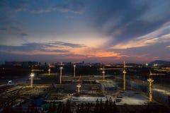 Jiangbei Nowy okręg, Nanjing, Jiangsu, Chiny zdjęcia stock