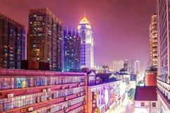 Jianghan-Straßeneinkaufsstraße in Wuhan stockfotos