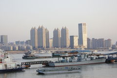 Jianghan Street and Yangz River Crossing Wuhan city(china) Stock Photos