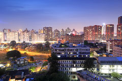 Jiangjunci community night sight Royalty Free Stock Photography