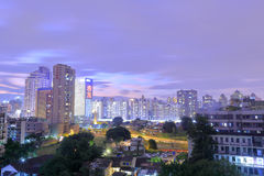 Jiangjunci community night view Stock Image