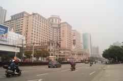 Jiangmen, China: urban road traffic Royalty Free Stock Photography