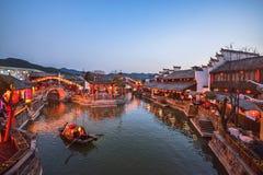 Jiangnan-Wasser-Dorf China Stockfotos