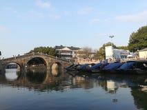 Jiangnan wody społeczność miejska w Chiny Zdjęcia Royalty Free