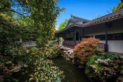 Jiangsu Huishan send Chang Park garden architecture royalty free stock photo