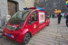 Jiangsu Nanjing starej wschodniej bramy sceniczny teren wśród mikro silników obraz stock