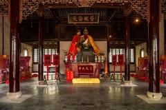 Jiangsu Wuxi Huishan Zhang Zhongcheng grodzka świątynia zdjęcia stock