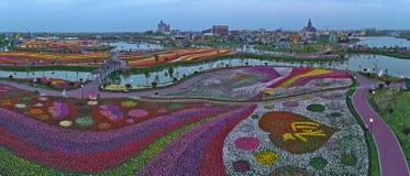 Jiangsu Yancheng: das Luftbildfotografie von 30 Million Tulpen in den Niederlanden berauscht Lizenzfreie Stockfotos