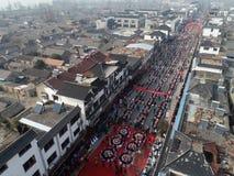 Jiangsuprovincie van China ` s: hongze meerstad, een kleine stad van heerlijk voedsel Stock Foto's