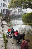 Jiangxi, China: het leven in een klein dorp stock foto's