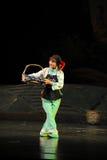 Jiangxi för minoritetbambudans opera en besman Arkivbild
