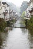 Jiangxi porslin: liten by i wuyuan Arkivfoton