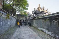 Jiangxi promu sceny Chiński miasteczko Jiangsu zdjęcia stock