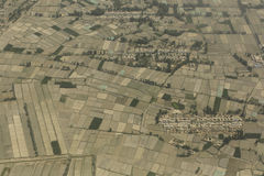 Jiangxi top view of the field Royalty Free Stock Photos