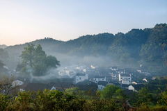 Jiangxi Wuyuan Shicheng byar Arkivbilder