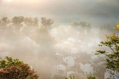 Jiangxi Wuyuan Shicheng byar Arkivfoton