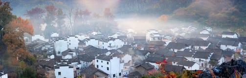 Jiangxi Wuyuan Shicheng Cheng Village Royaltyfri Fotografi