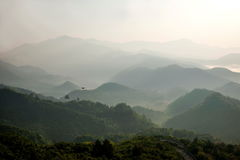 Jiangxi Wuyuan Shicheng mountains Stock Photos