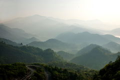 Jiangxi Wuyuan Shicheng mountains Stock Photo