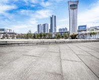 Jiangyin City Scenery. Cultural Center Plaza ground of modern architectural background Stock Image