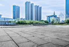 Jiangyin City Scenery. Cultural Center Plaza ground of modern architectural background Stock Photo