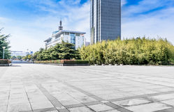 Jiangyin City Scenery. Cultural Center Plaza ground of modern architectural background Royalty Free Stock Photography