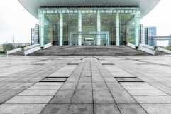 Jiangyin Culture Museum Plaza ground. Cultural Center Plaza marble pavement Royalty Free Stock Photo