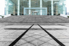 Jiangyin Culture Museum Plaza ground. Cultural Center Plaza marble pavement Royalty Free Stock Photos