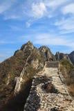 Jiankou wilde grote muur in de herfst van Peking royalty-vrije stock foto