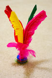 Jianzi or Kikbo shuttlecock, Chinese game for exercise or competition. Stock Image