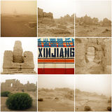 Jiaohe Ancient City in Xinjiang Stock Photos