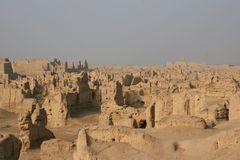 Jiaohe Old Town on Silk Road Stock Images