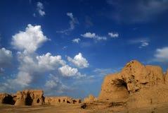 Jiaohe Ruinen Stockfotos