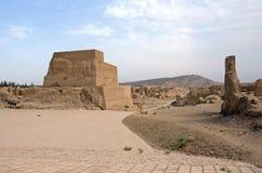 Jiaohe-Ruinen Stockbild