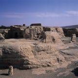 Jiaohegucheng City. A view of Jiaohegucheng, the ancient city near Xingjiang, Tulufan, China Stock Images
