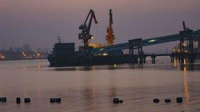 Jiaojiang solnedgång Arkivbilder