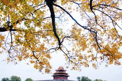 Jiaolou, Corner Tower. Forbidden City. Jiaolou, literally translated as corner tower, is a kind of defense works and placed where two walls joined corner. This royalty free stock photography