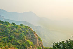 The Jiaoshan mountains sunrise Royalty Free Stock Photos