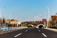 Jiaozhou Bay Subsea Tunnel in Qingdao, China Stock Image