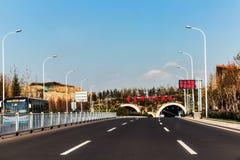 Jiaozhou Bay Subsea Tunnel in Qingdao, China Stock Image