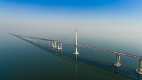 Jiaozhouwan bridge qingdao china. The jiaozhouwan bridge from qingdao to huangdao over sea in shandong China Stock Images