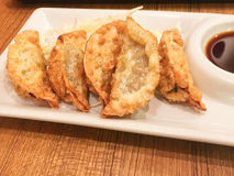 Jiaozi fried Japanese Stock Photos