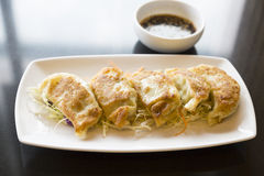 Jiaozi or gyoza, Chinese dumpling Stock Photo