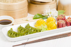 Jiaozi, Har Gow and Siu Mai Stock Image