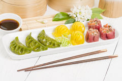 Jiaozi, Har Gow and Siu Mai Stock Photography