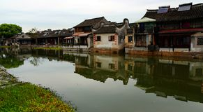 Jiaxing, città di Xitang, provincia di Zhejiang, Cina fotografia stock