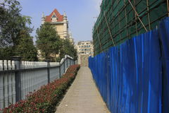 Jiaxing Grand Canal road being repaired Stock Photo