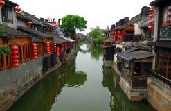 Jiaxing, ville de Xitang, province de Zhejiang, Chine Image libre de droits